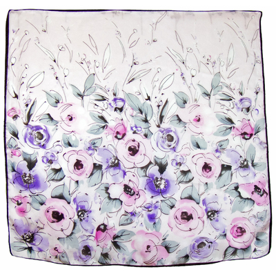 Carré de soie rose Violeta