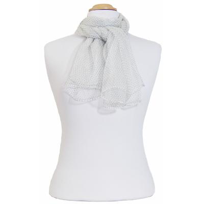 Foulard mousseline de soie blanc inés