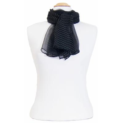 Foulard mousseline de soie noir inés