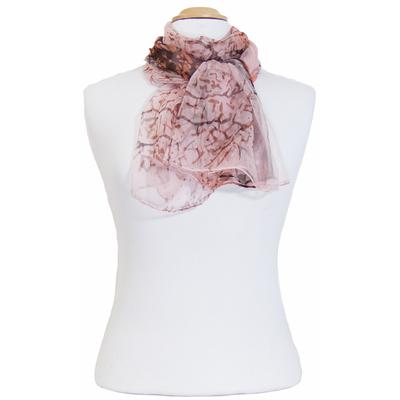 Foulard mousseline de soie rose Muzy