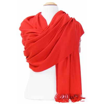 Etole cachemire laine rouge Charlie