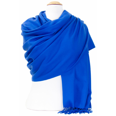 Etole cachemire laine bleu roi Charlie