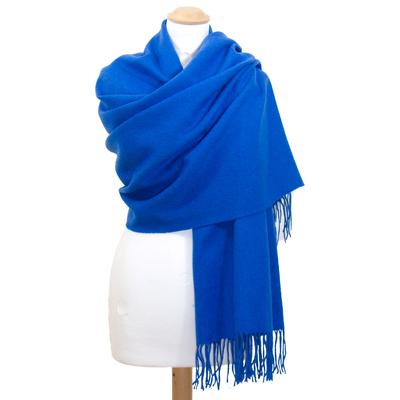 Etole bleu vif en laine