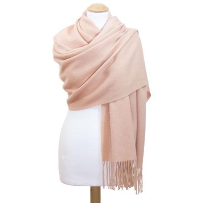 Etole beige rosé en laine
