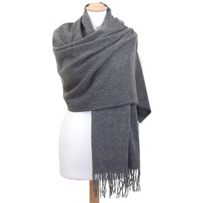 Etole gris foncé en laine premium