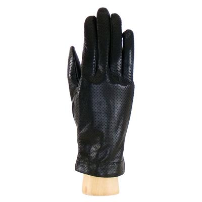 Gants cuir perforé noir femme taille 7