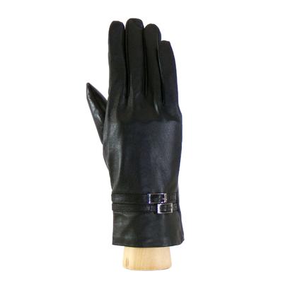 Gants cuir noir boucles femme taille 7