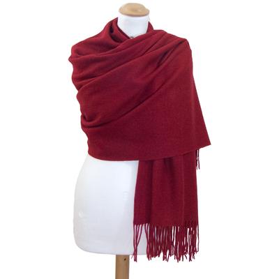 Etole rouge bordeaux en laine