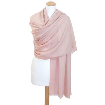 Etole laine beige rosé fine et douce premium