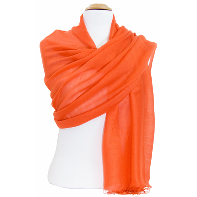 Etole foulard orange soie viscose Alex
