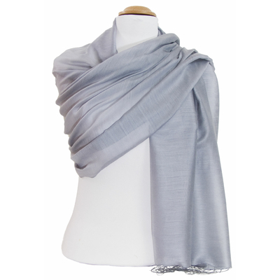 Etole foulard gris soie viscose Alex