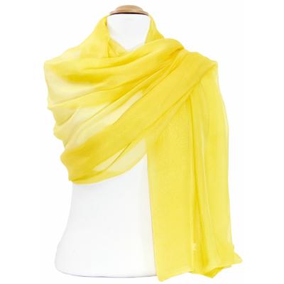 Etole jaune lumineux mousseline de soie premium