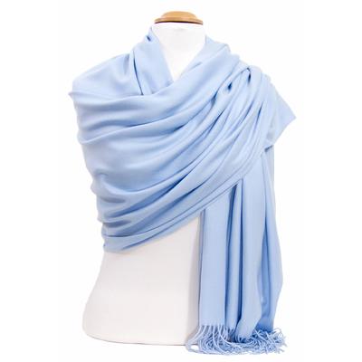Etole cachemire laine bleu ciel Charlie