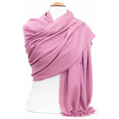 Etole cachemire laine rose foncé Charlie