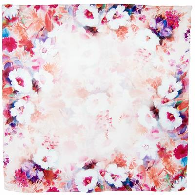Carré de soie rose Anicé 110 x 110 cm premium