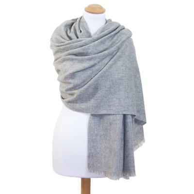 Etole gris clair cachemire laine