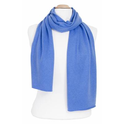 Echarpe cachemire bleu azur J and W