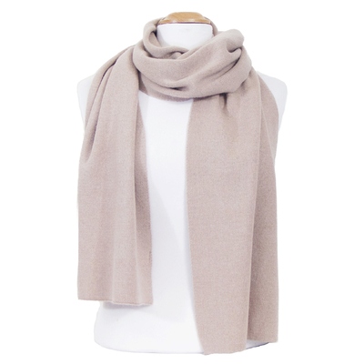 Echarpe maille cachemire viscose taupe Loan