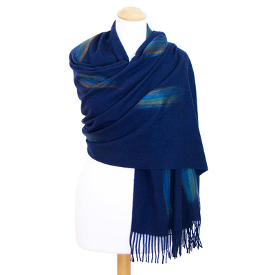 Etole bleu marine cachemire laine Plume