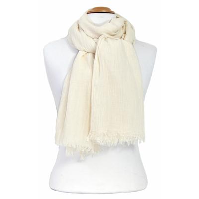 Foulard écru coton froissé
