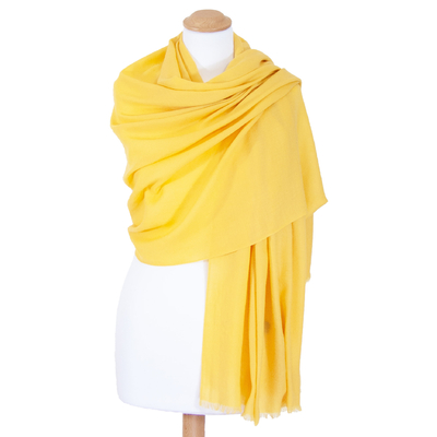 Etole jaune laine fine premium