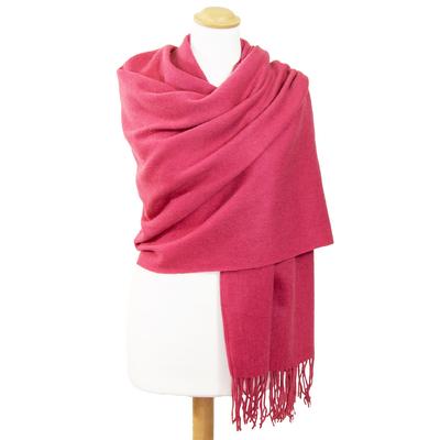 Etole rose cyclamen en laine