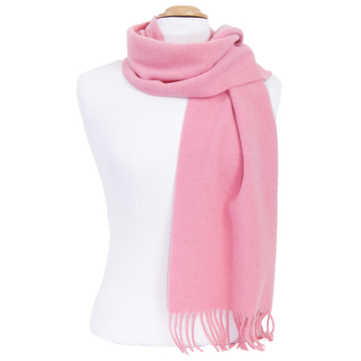 Echarpe rose en laine lambswool