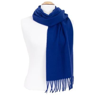 Echarpe bleu roi en laine lambswool