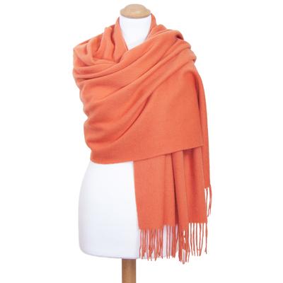 Etole orange pastel en laine premium