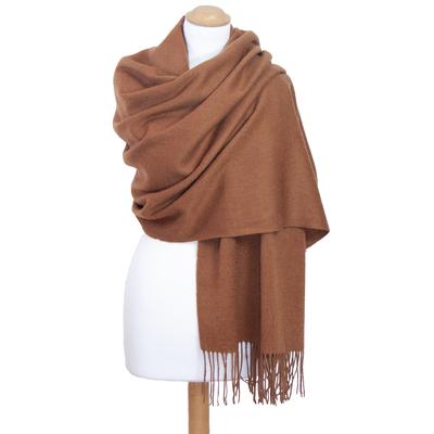 Etole camel en laine premium