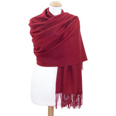 Etole rouge bordeaux en laine premium