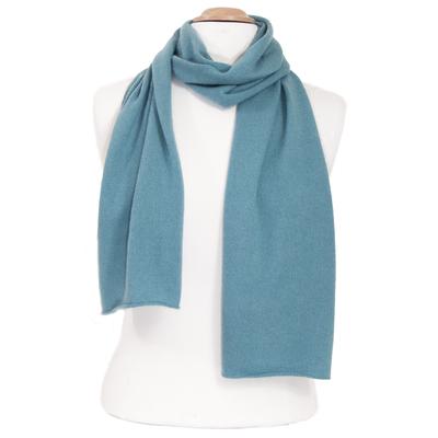Echarpe cachemire bleu gris J and W