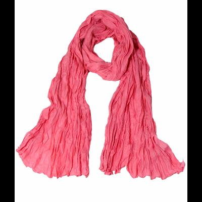 Chèche rose en coton