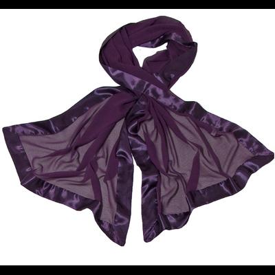 Etole en pure soie et satin violet profond