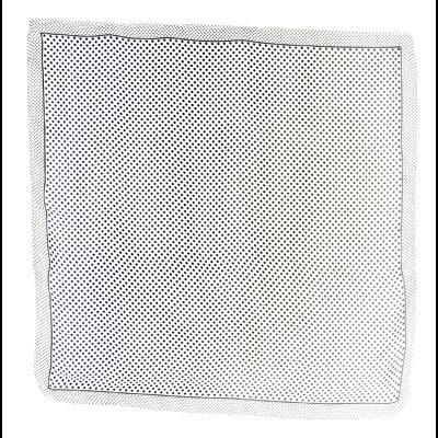 Carré de soie foulard blanc pois noir 85 x 85 cm