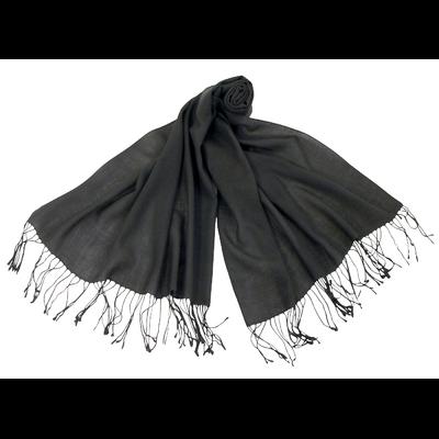 Etole gris anthracite pure laine