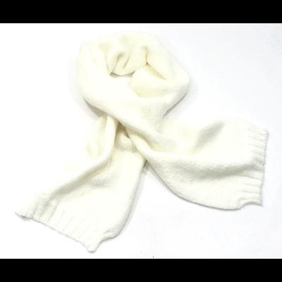Echarpe tricot grosses mailles écru