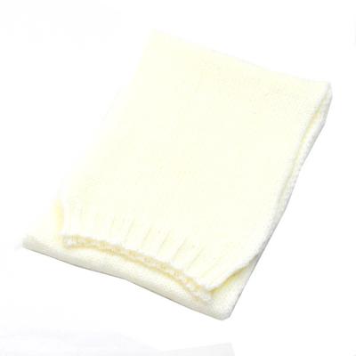 écharpe laine grosses mailles écru  EF43 3