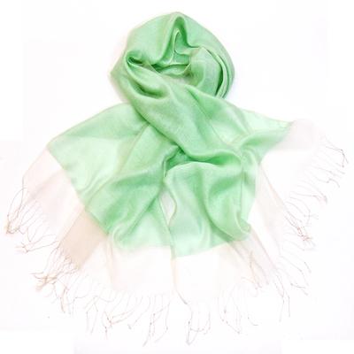 Etole vert doux organza et soie