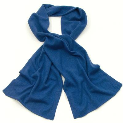 Echarpe en cachemire bleu J and W