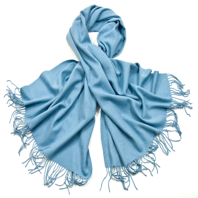 Etole bleu ciel en laine