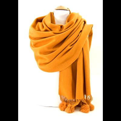 étole laine et fourrure safran ETLF14 3