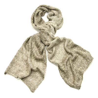 Echarpe beige chiné maille tricot