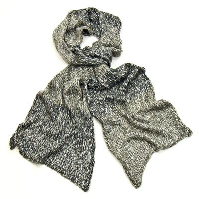 Echarpe gris chiné maille tricot