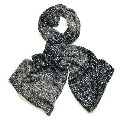 Echarpe noir chiné maille tricot