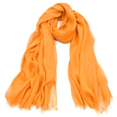 Foulard chèche orange vif viscose légère Palme