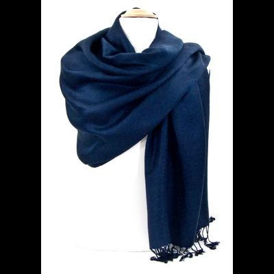 Etole bleu marine pashmina tissage damassé