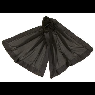 Etole noire en soie et satin