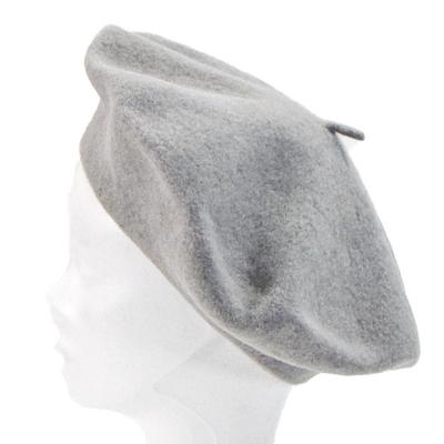 Béret gris clair en laine