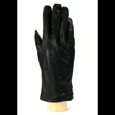 Gants cuir noir femme nervures taille 8